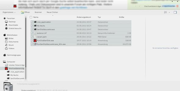 SanDisk USB Stick - kann ich die Dateien löschen?