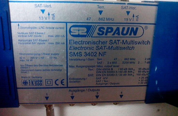 satelliten multiswitcher defekt was f r einen switch brauche ich satellit. Black Bedroom Furniture Sets. Home Design Ideas