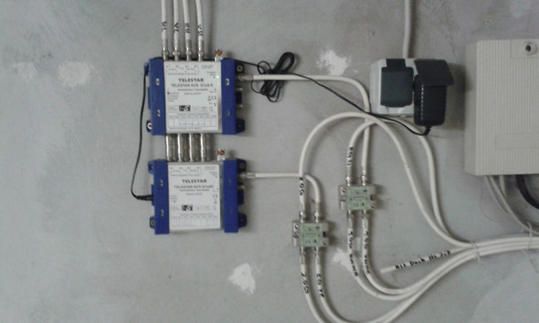 Verteilung  im Keller  - (Technik, TV, Fernsehen)