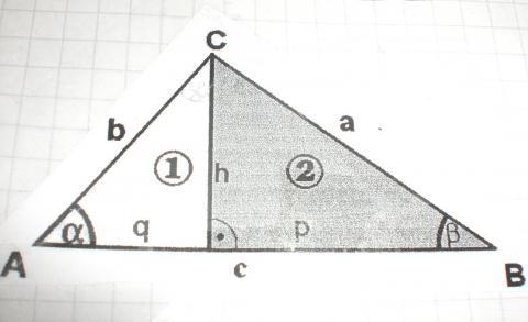 satz des pythagoras hnliche teildreiecke mathematik geometrie dreieck. Black Bedroom Furniture Sets. Home Design Ideas