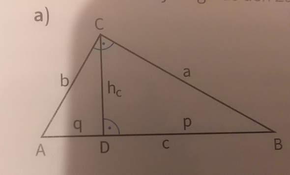 Satz des Pythagoras,hilf mir in eine Aufgabe?
