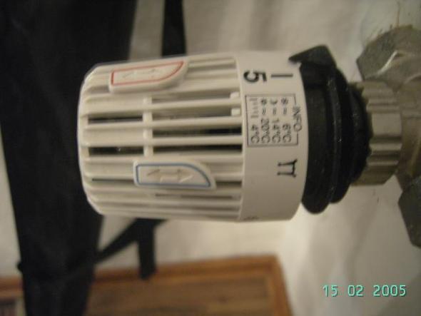 Schalter Am Thermostat Heizung Hitze Sanitar