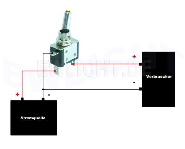 Stromkreislauf Kippschalter - (Technik, Strom, Stromkabel)