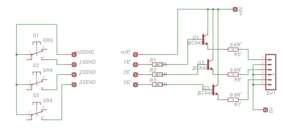 Schaltplan mit Transistoren umsetzen, aber wie? (Elektronik, Strom ...