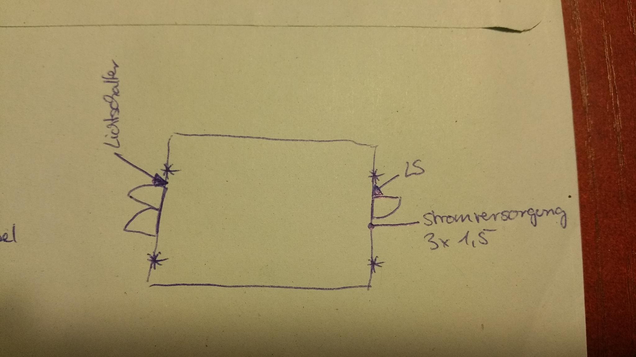 schaltplan mit wechselschalter strom installieren elektriker. Black Bedroom Furniture Sets. Home Design Ideas