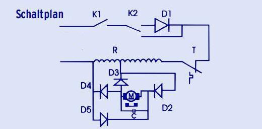 Schaltung Föhn/Haartrockner (Technik, Elektronik, Schaltplan)