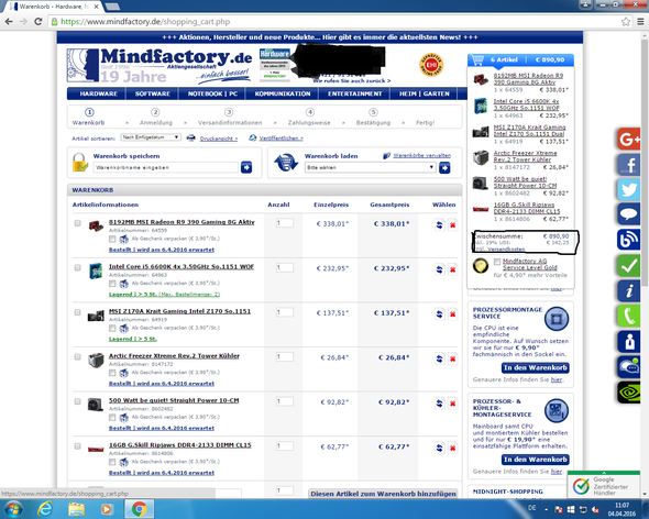 Mindfactory - (Preis, mindfactory)