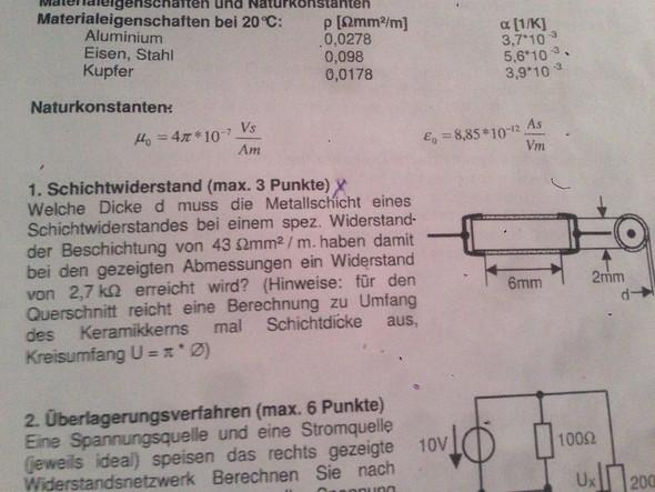 schichtwiderstand - (Physik, Elektrotechnik, Elektrizität)