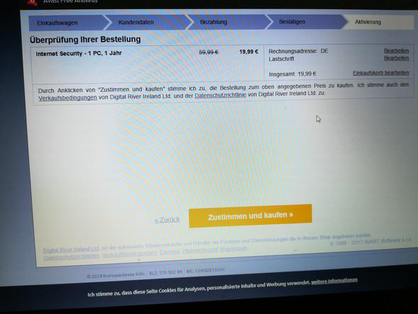 Avast Rechnung : schickt avast die bestellung per post computer online rechnung ~ Themetempest.com Abrechnung