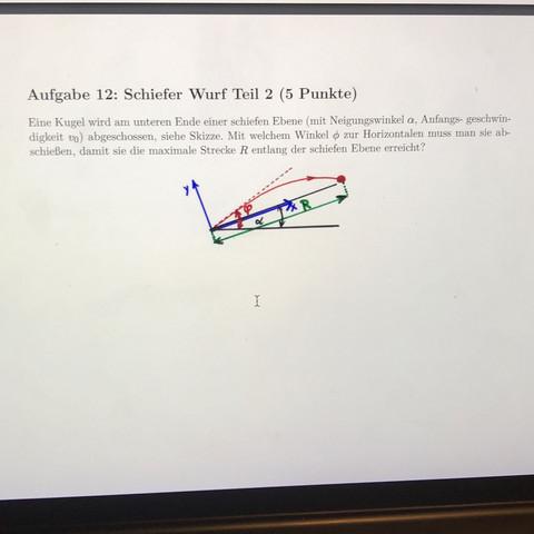 Wurf entlang einer schiefen Ebene - (Schule, Physik, Mechanik)
