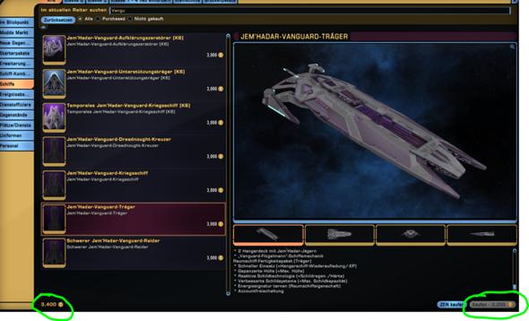 Schiff kann nicht gekauft werden, trotz genügend ZEN Star Trek Online?