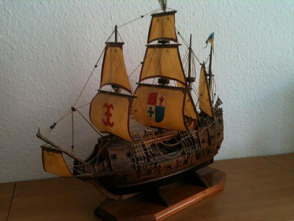 schiff 1 - (Holz, Modellbau, Schiffsmodell)