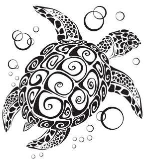 Schildkröten Tribal Tatoo Als Mann Auf Schulter Tattoo