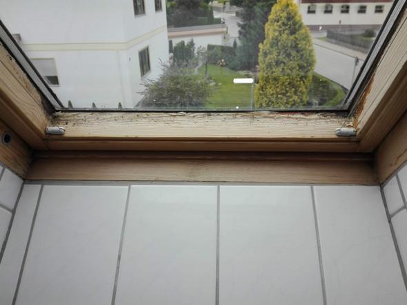 schimmel am holz des velux baddachfensters entfernen dachfenster. Black Bedroom Furniture Sets. Home Design Ideas