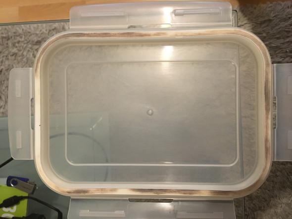 schimmel in gummidichtung von lunchbox entfernen gummi. Black Bedroom Furniture Sets. Home Design Ideas