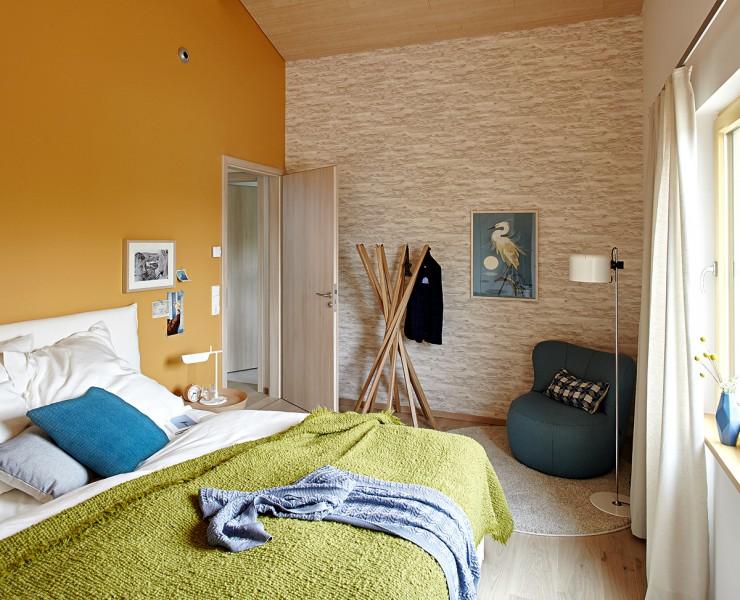 Schlafzimmer passt gelb zur grauen wand farbe wohnen wandfarbe - Wandfarbe gelb ...