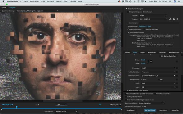 vor dem export/rendern - (Video, Adobe, Animation)