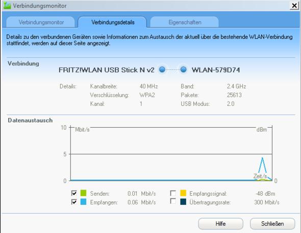 Verbindungsdetails - (Computer, WLAN, Fritz Box)
