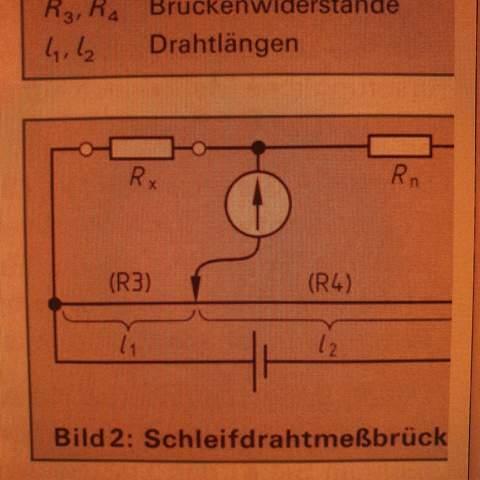 Schleifdrahtmessbrücke kurzschluss rechnerisch orten?