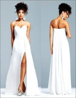 Kleid schlitz vorne