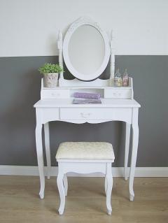 schminktisch einen oder zwei spiegel. Black Bedroom Furniture Sets. Home Design Ideas