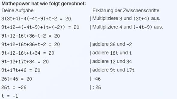 Schnelle Hilfe, Mathe einfach?