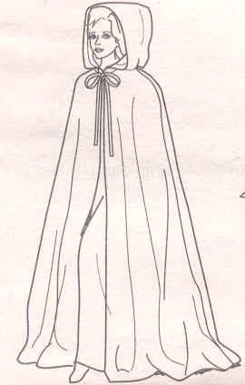 Schnittmuster Für Mittelalterlichen Umhang Kleidung Kostüm