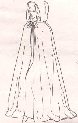 schnittmuster f r mittelalterlichen umhang kleidung kost m cosplay. Black Bedroom Furniture Sets. Home Design Ideas