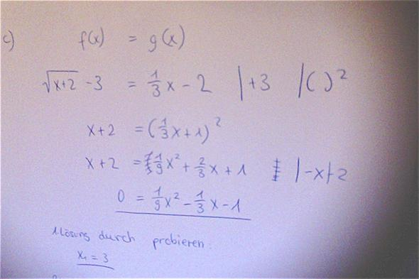 Gleichsetzung: - (Mathe, Schnittpunkt berechnen)
