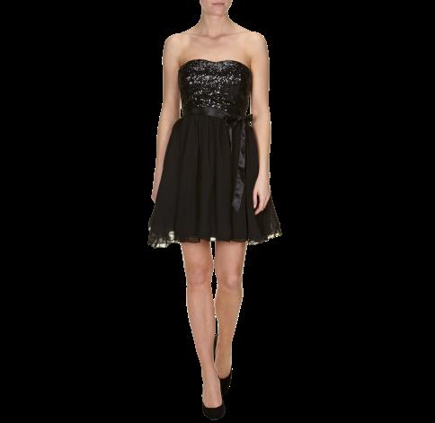 sch ne schuhe f r ein cocktailkleid in schwarz kleid. Black Bedroom Furniture Sets. Home Design Ideas