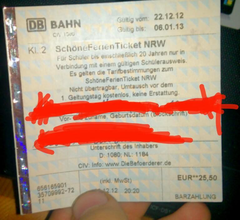 Schöner Ferien Ticket Nrw