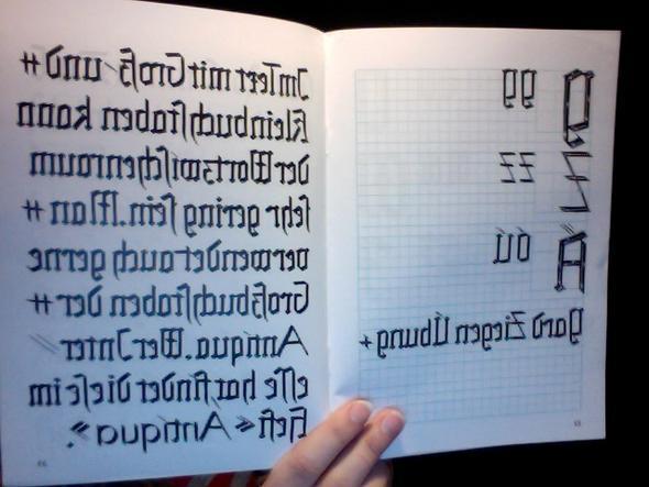 So sieht die Schrift aus... - (Leben, Geschenk, Sprüche)