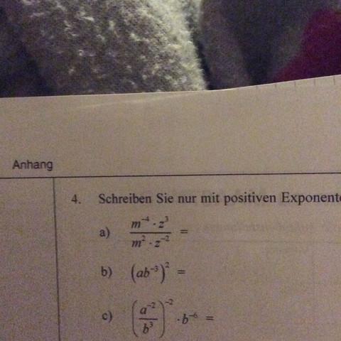 Aufgaben! - (Mathe, Gleichungen, Positive exponenten)