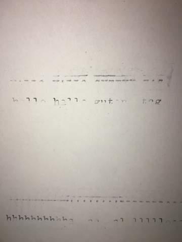 Schreibmaschine druckt Buchstaben nur halb?