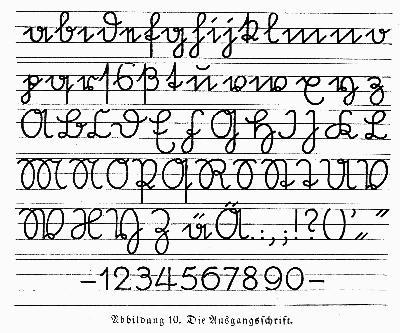 Die deutsche Sütterlin-Ausgangsschrift - (deutsch, Schreiben, Sütterlin)