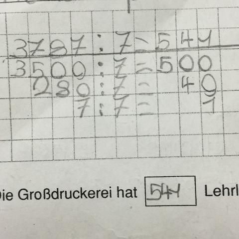 Schriftliche Division in der Grundschule!? (Mathe, Mathematik)