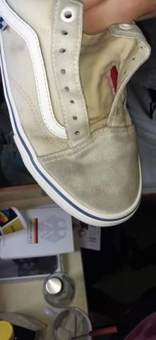 Schuhe gewaschen,nun grau/schwarz?