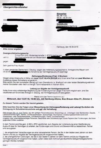 Schulden bei FKH OHG, Betrug? (Gerichtsvollzieher, Amtsgericht)