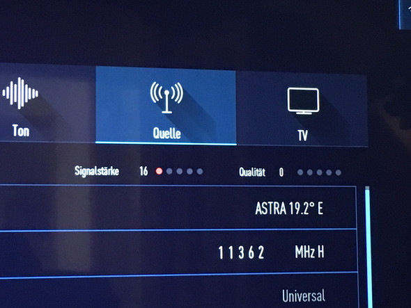 Satelliteneinstellungen Astra