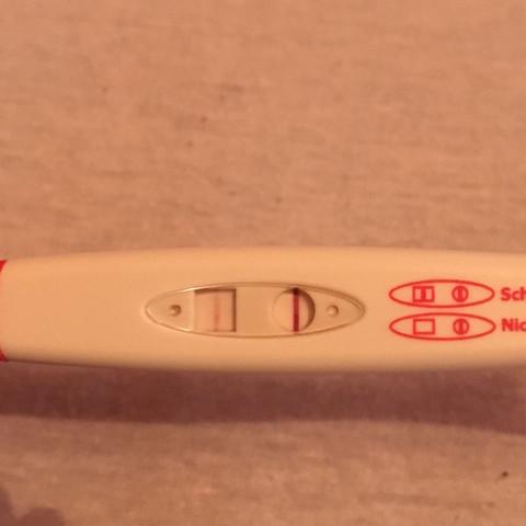 Schwangerschaftstest linie schwach