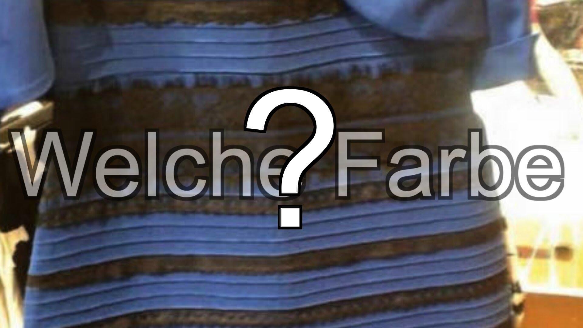 Kleid blau schwarz gold weiss erklarung