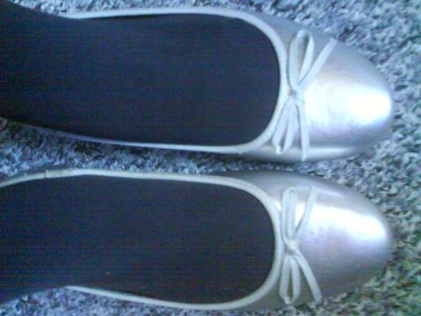 mir silbernen Ballerinas - (Mode, Schuhe, Fashion)