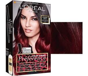 Schwarze haare mit roten strähnen