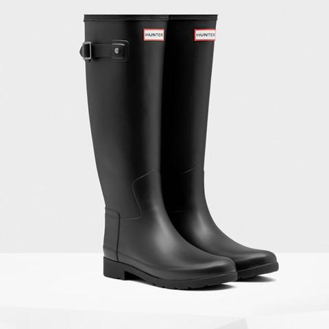 best sneakers e451f 9b15e Schwarze Hunter Boots matt entsteht später ein knick ...