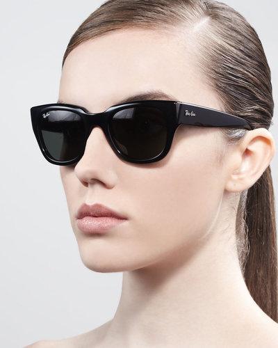 schwarze ray ban sonnen brillen f r damen brille. Black Bedroom Furniture Sets. Home Design Ideas