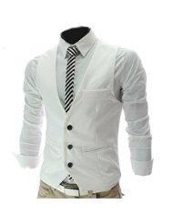 weißes hemd schwarze weste