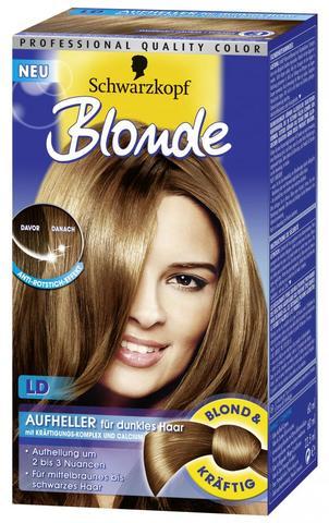 Blonde haarfarbe fur dunkles haar