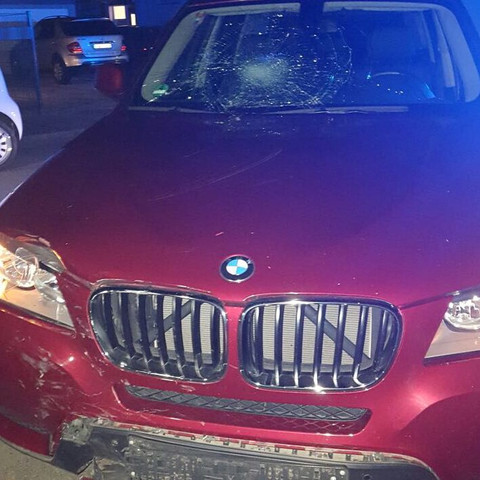 So sieht das Auto meiner Mutter aus nach dem Infall  - (Auto, Motorrad, Unfall)