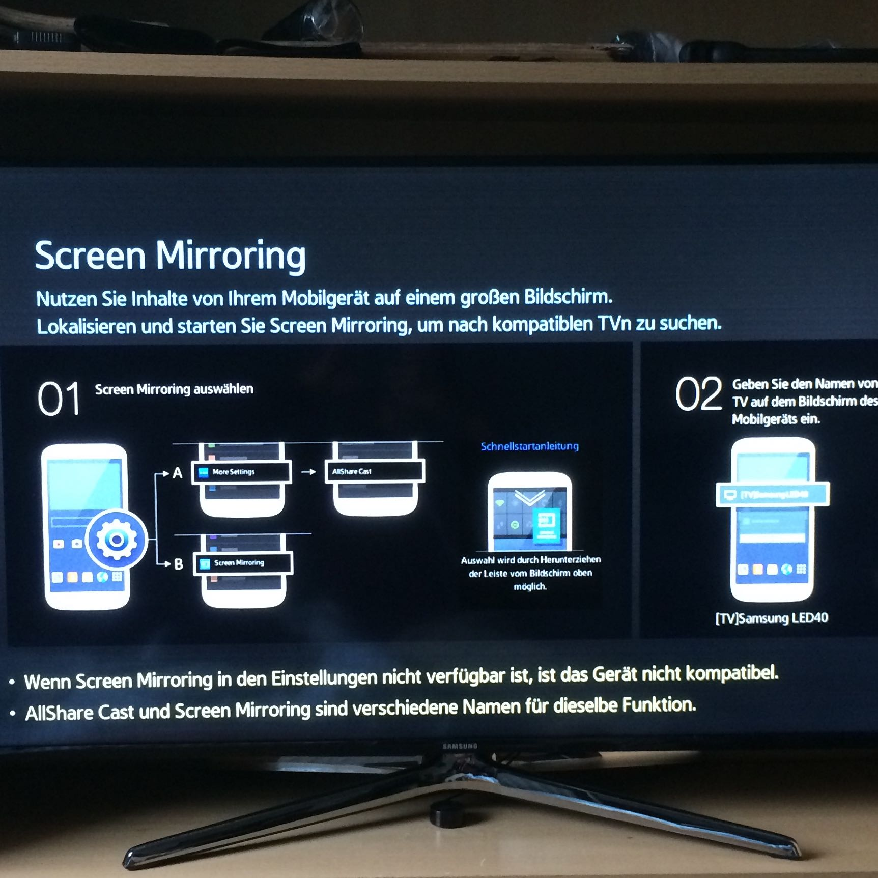 Screen mirroring mit iphone apple samsung tv - Mirror screen ...