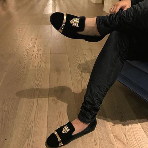 1. Bild - (Schuhe, schwul, Gold)